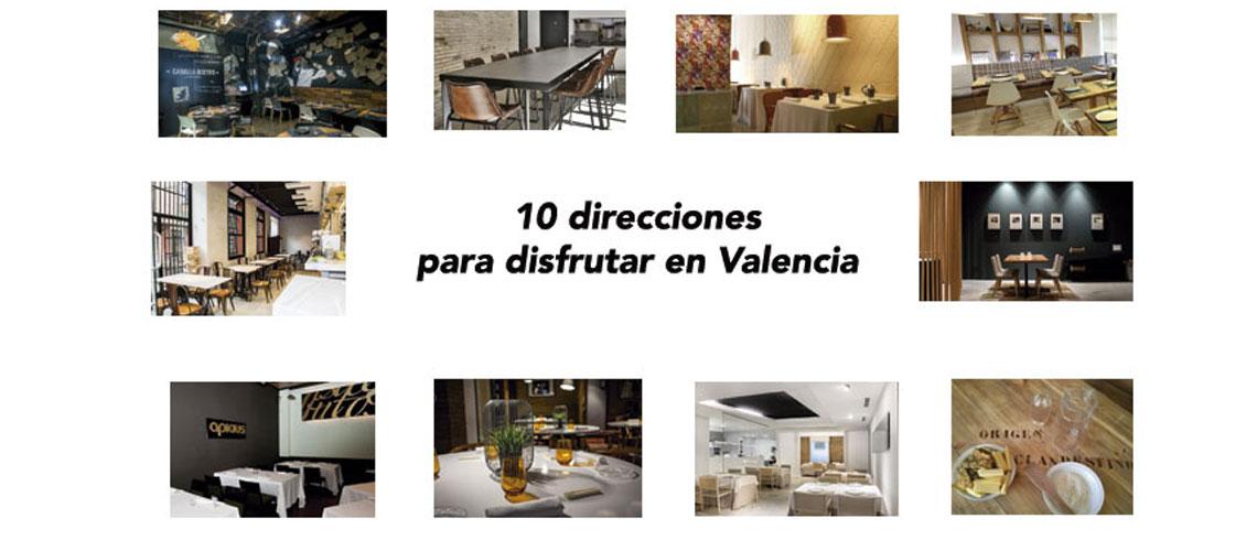 Diez direcciones gastron�micas