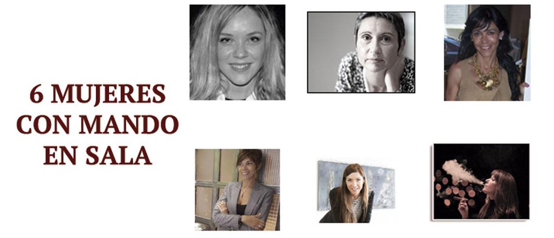 6 mujeres con mando en sala