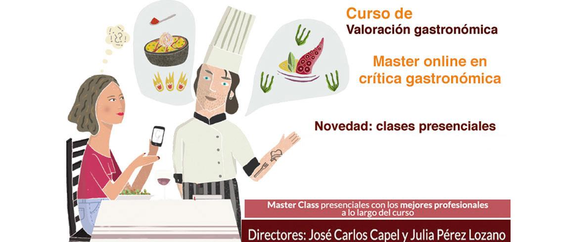 Master online en critíca gastronómica