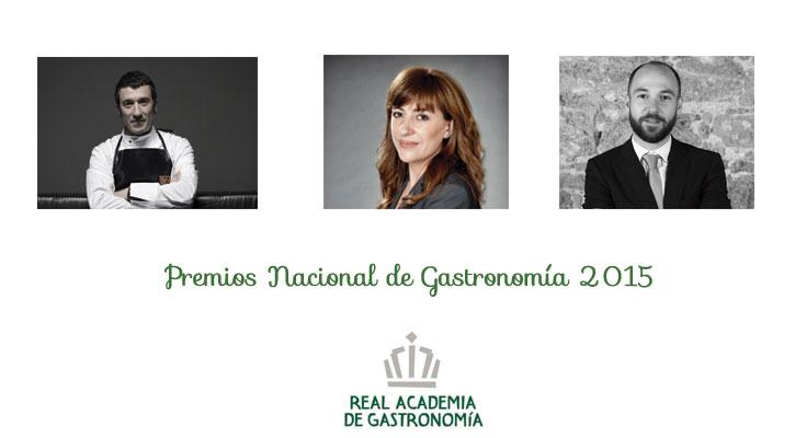 Foto: Eneko Atxa, Mónica Fernández y Juan Ruiz, Premios Nacional de Gastronomía 2015