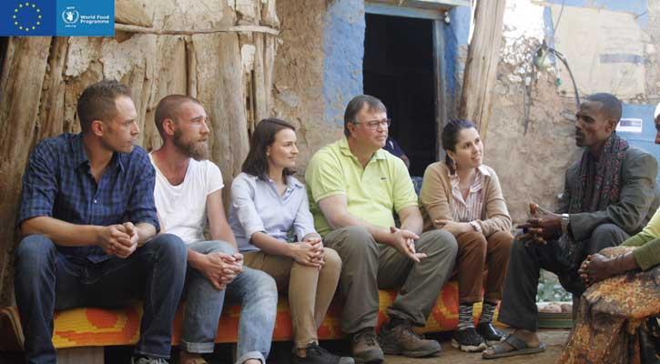 Foto: Clara Villalón cocina en Etiopía con la ONU