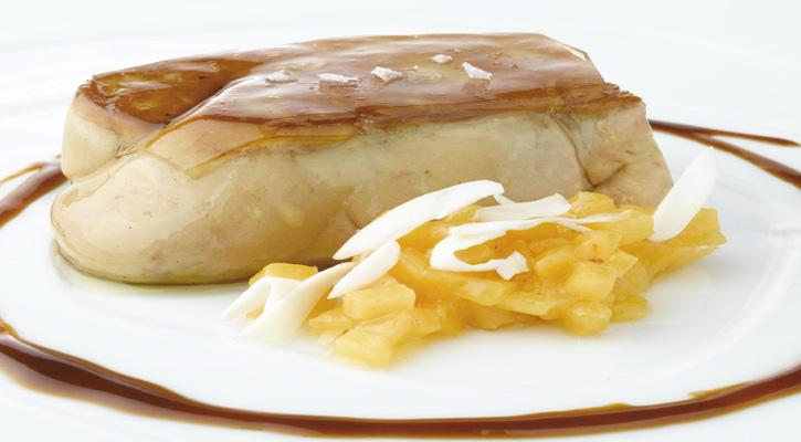 Foto: Foie-gras con amareto