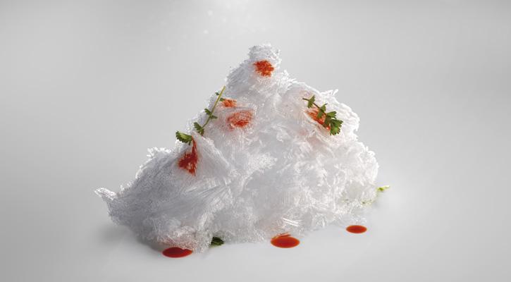 Foto: Raspaduras de hielo aromatizadas con esencia de carabinero