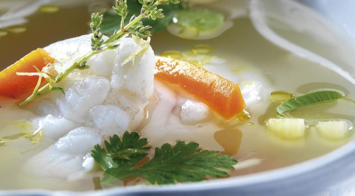 Sopa de rape y verduras