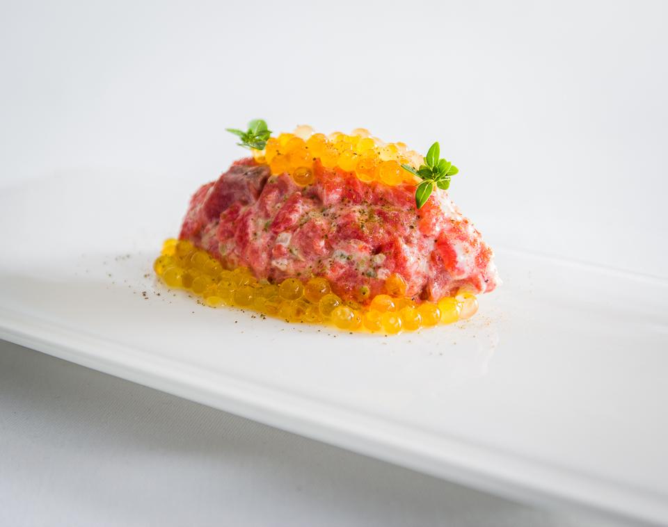 Foto: Tartar de salchichón de agua dulce