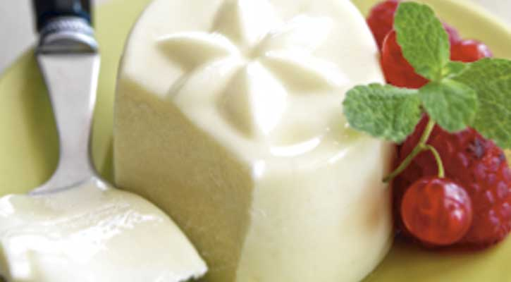 Foto: Panacota de chocolate blanco