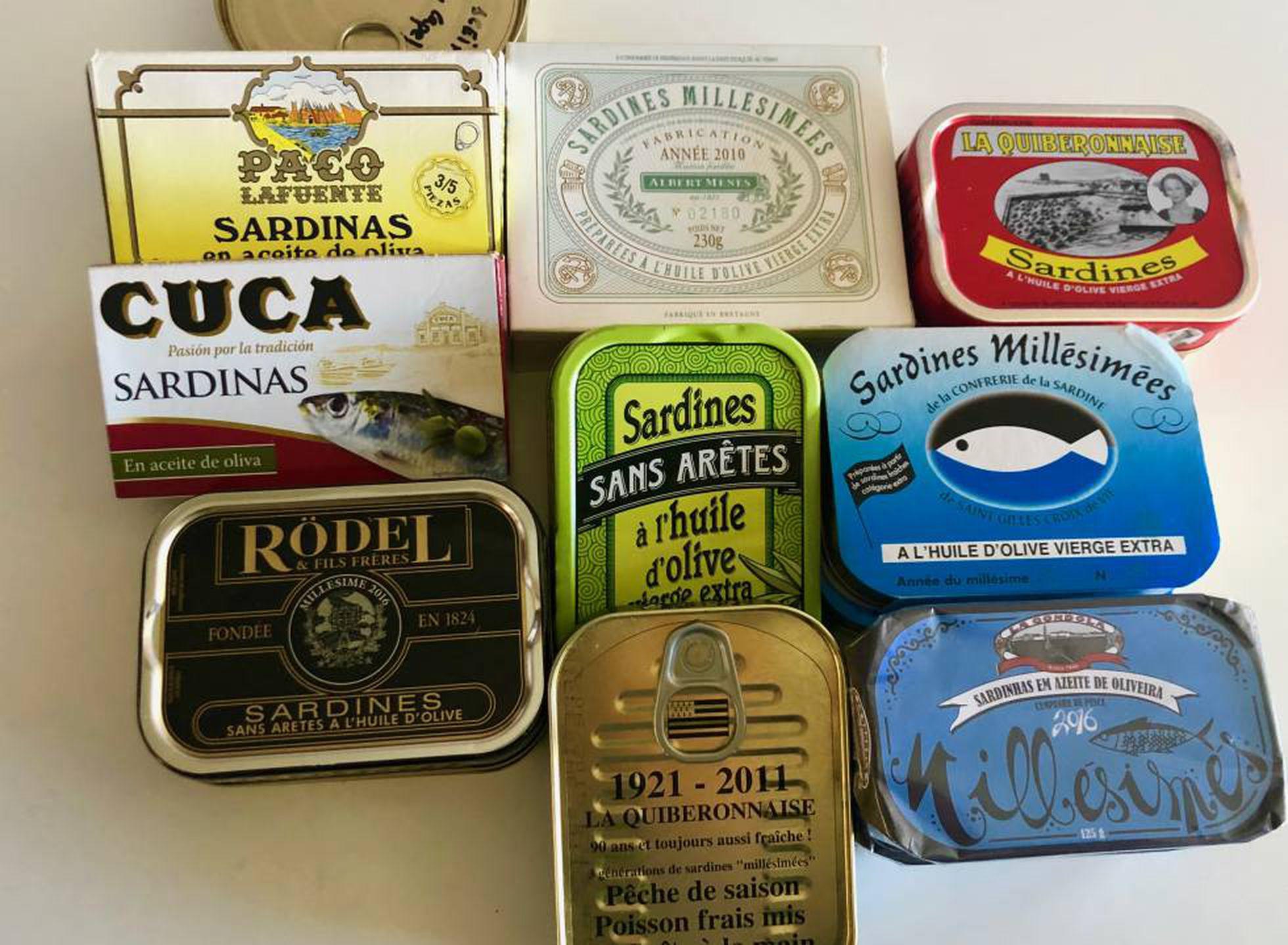 Sardinas en conserva latas