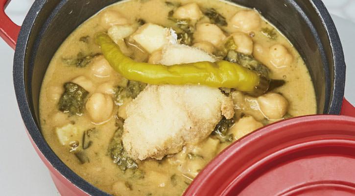 Potaje de Vigilia, receta del restaurante Atrapallada.