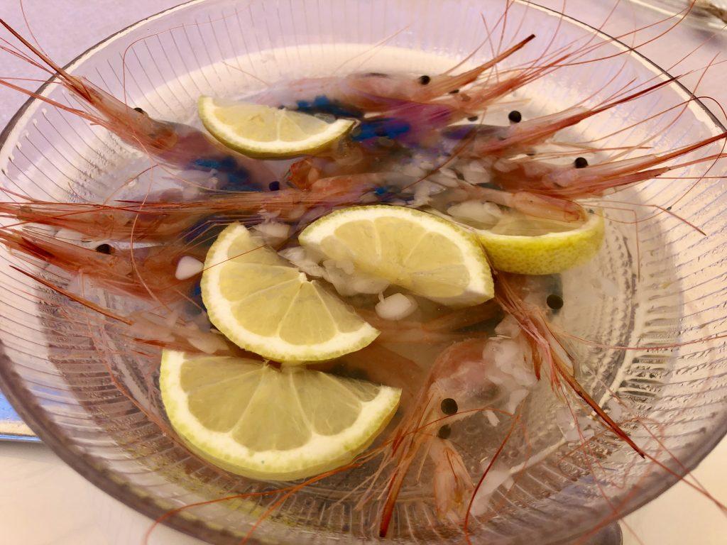 Quisquillas crudas Chinchín Puerto (GastroActitud)